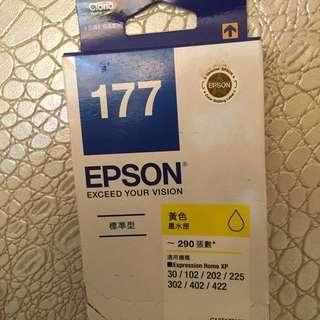 (黃色)EPSON 原廠墨水 T177 墨水適用XP-102/XP-202/XP-302等