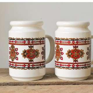 Vintage Ceramic Japanese Salt and Pepper Shakers
