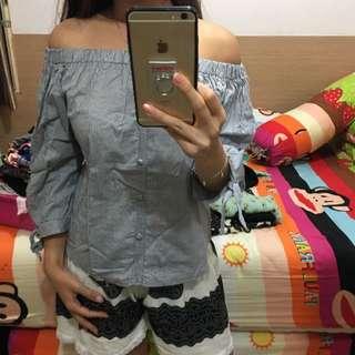 baju SABRINA off shoulder