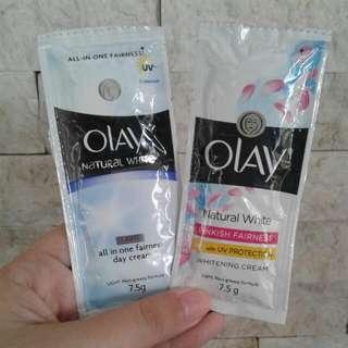 Olay day cream & UV whitening cream 7.5g sachet NEW