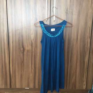 Kashieka teal top with sequence
