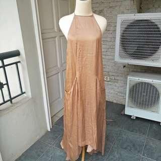 zara women dress brown