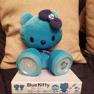 blue  hello kitty speakers 喇叭