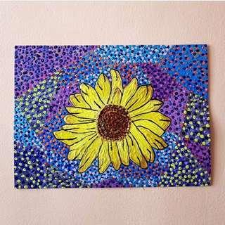 Sunflower Dot Art
