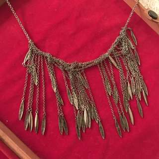 Faded silver necklace