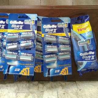 Gillette Blue plus II disposable razors NEW