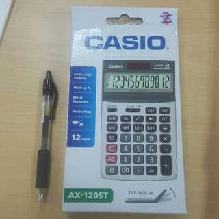 CASIO 桌上型12位元仰角計算機AX-120ST