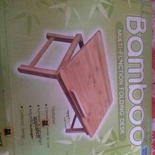 Bamboo Multi Function Folding Desk