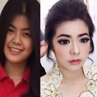 Before after makeup by kenzomakeupartist