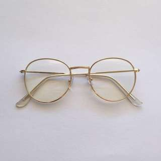 GOLD UNPRESCRIPTED GLASSES