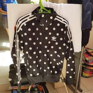 [ORI 100%] jaket adidas polkadot size S fit to M
