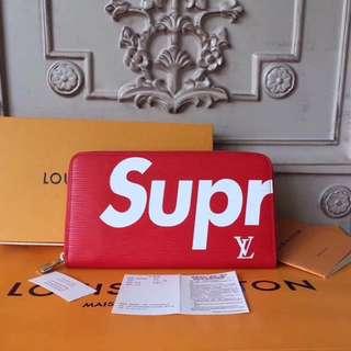 SUPREME zipper wallet