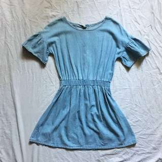ZARA INSPIRED DENIM BELL DRESS