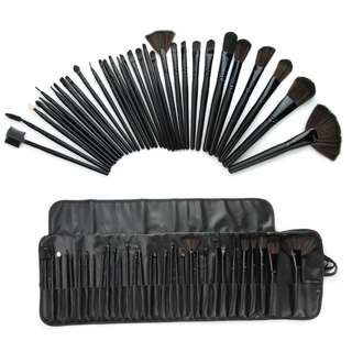 32 Pcs Professional Cosmetic Makeup Brush Set Kit with Synthetic Leather Case