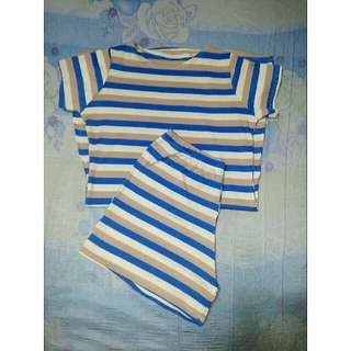 Free SF! STRIPED DRESS (COORDINATES)
