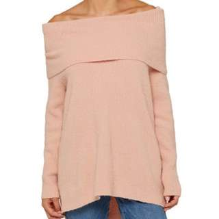 Sportsgirl Cowl Off Shoulder Knit jumper