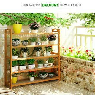 BN FREE DELIVERY BAMBOO PLANT RACK