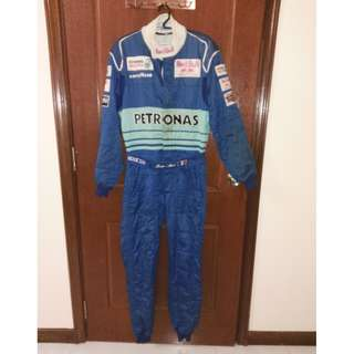 Jean Alesi Tracksuit with personal autograph by him.