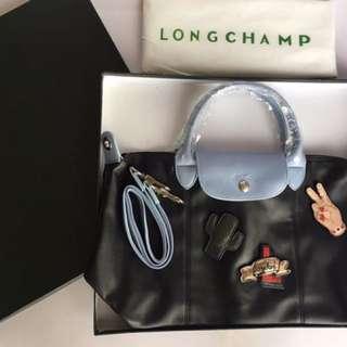 Longchamp cuir patch