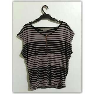 Casual Stripes Maternity Top (L)