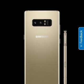 New Galaxy Note 8 (maple gold) & Dex station, Full set