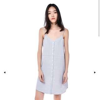 MELOSA BUTTON-DOWN STRIPED DRESS