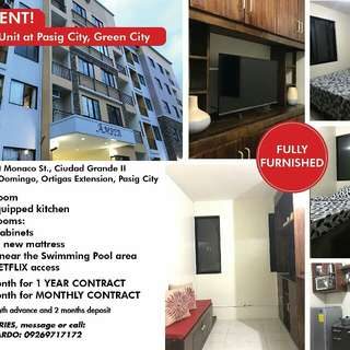 CONDO UNIT FOR RENT With facilities and amenities Location: East Residences Ortigas extn. Pasig walking distance SM East ortigas ✔ Accessible Megamall, Robinson, Eastwood, BGC area etc ✔ 24 hours security nka CCTV