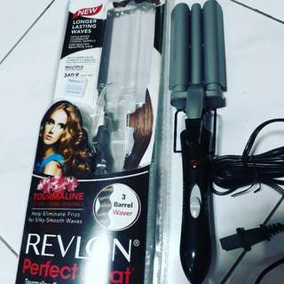 3 BARREL WAVER ( Mermaid Curler / Iron ) - *Tourmaline Ceramic (Revlon - Perfect Heat) *helps eliminate Frizz ( Electric Curler ) - currently priced up to USD 28!! 😲