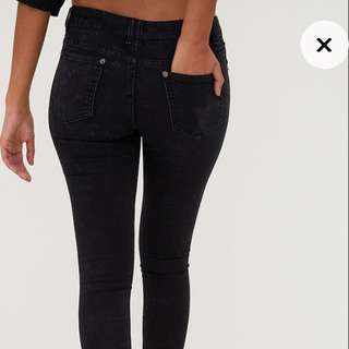 REDUCED Black high waisted jean