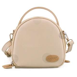 Beige Instax Leather Camera Bag