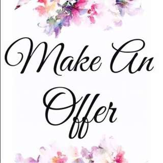 MAKE AN OFFER *can drop off items to you:)