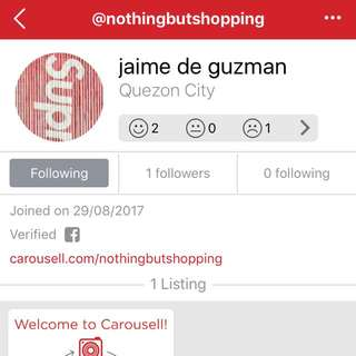 BOGUS ALERT!!! Nothingbutshopping account