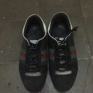 Gucci sankers leather mix leather sude
