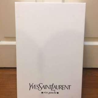 Authentic white Yves Saint Laurent YSL box