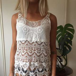 Lace Top, Size XS