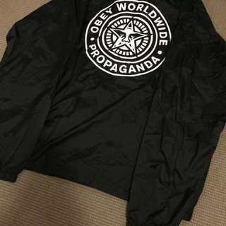 OBEY Mens Black Jacket Size Large