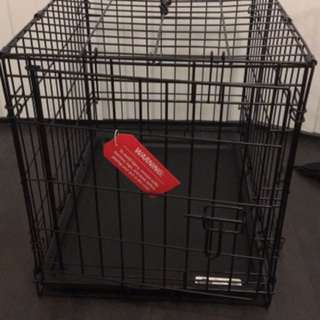 Black Folding Dog Crate Brand New