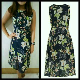 Zalora Floral Dress With Slit