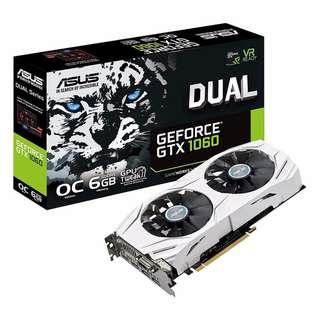 ASUS GeForce GTX 1060 DUAL-GTX1060-O6G 6GB