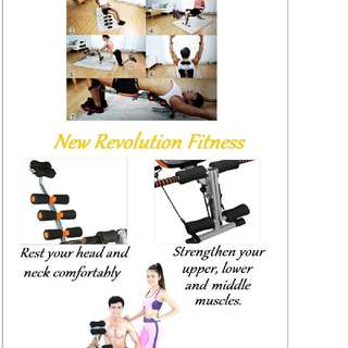 Gym AB Six Pack Care Exercise Bench Chair Equipment