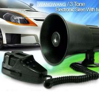 Wangwang Police Tone 3 Sound Siren with Microphone 50w 115db Ton of Fun
