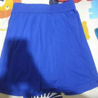 Electric Blue Flare Skirt