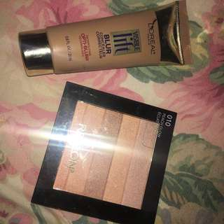 L'Oréal Concealer In Medium & Revlon Highlighter
