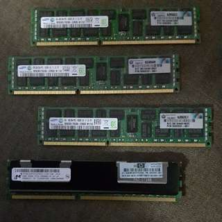 Samsung 4GB 2Rx4 PC3-10600R DDR3-1333 Registered ECC Memory Module