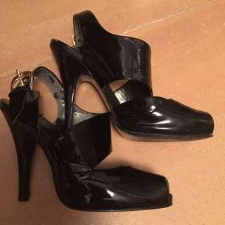 Charles & Keith Black High Heels