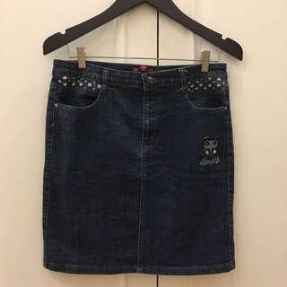 Woman jeans skirt