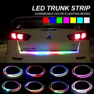 RGB car styling turn signal strip led trunk Tail Light Colorful flash LED Light for car trunk