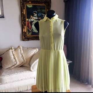 Yeloow dress size s