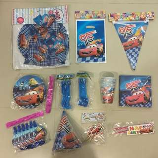 $3+ Disney McQueen Cars Party Supply