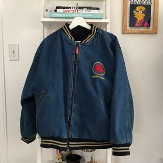 Reversible Jean Bomber Jacket